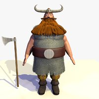 3D model rigged jake viking cartoon