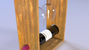 decorative shelf wine 3D model