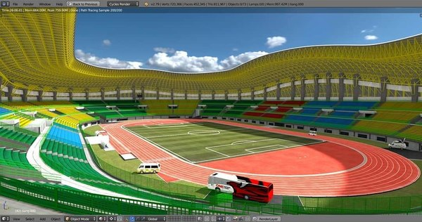 3D patriot chandrabaga bekasi stadium model
