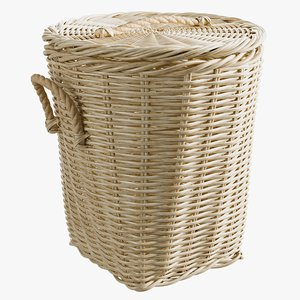 3D model realistic laundry basket