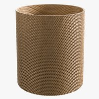 3D realistic rattan wastepaper basket