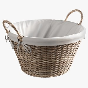 realistic laundry basket liner model