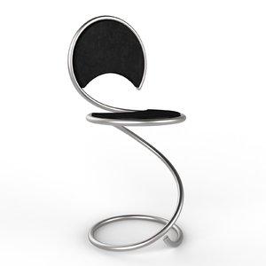 snake chair 3D