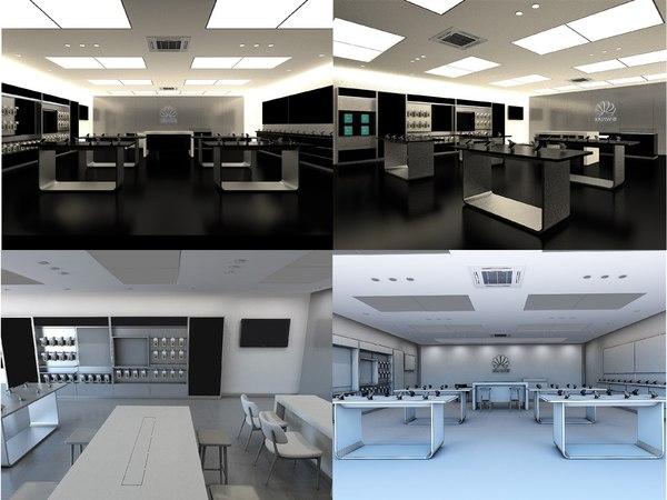 3D model huawei store interior