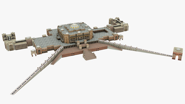 3D emirates palace hotel building model