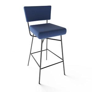 3D model bar stool orfeo artflex
