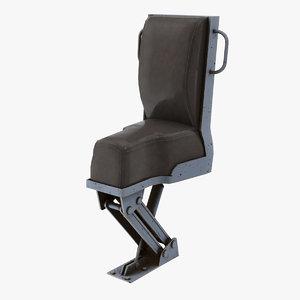 3D model jockey seat