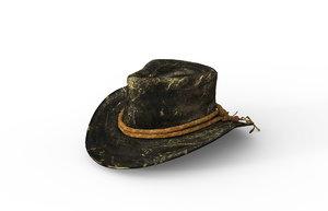 realistic cowboy hat 3D