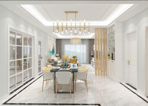 living room bedroom 3D