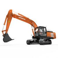3D hitachi zh210 hybrid excavator model