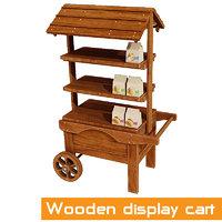 cart display wooden model