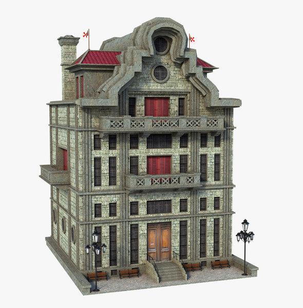 3D building medieval old