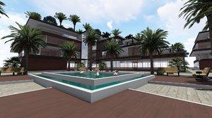 3D revit residential complex