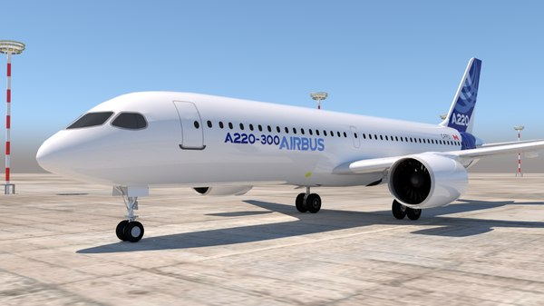 airbus a220 300 3D model