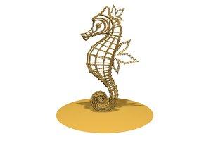 3D sea horse model