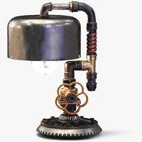 3D steampunk lamp
