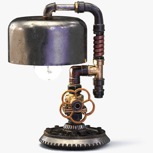 3D steampunk lamp