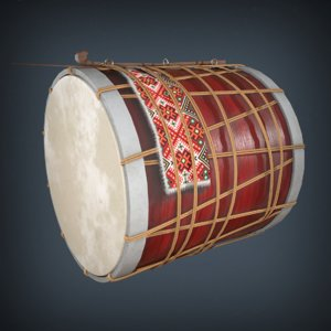 3D traditional drum model