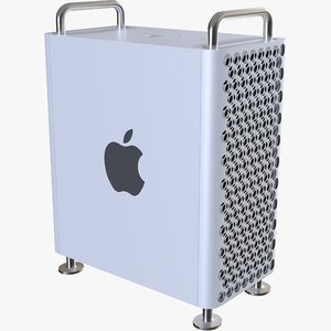 3D apple mac pro model