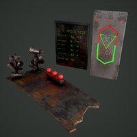 sci-fi board door 3D model