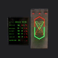 sci-fi neon door 3D