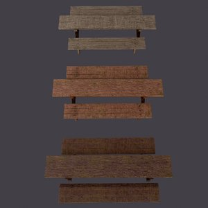 benches tables 3D model