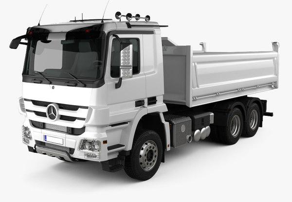 3D model truck mersedes-bens actros tipper