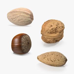 3D nuts 3 model