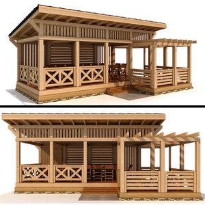 3D gazebo modern style model