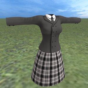 schoolgirl uniform schools model