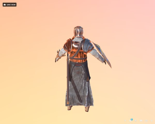 knight bronze 3D model
