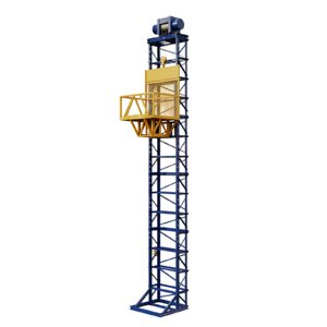 3D freight elevator mast