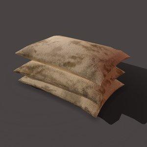 burlap sacks straight 3D