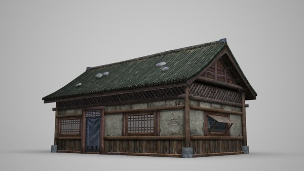 3D small house ancient model