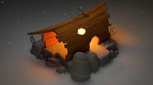 shaman hut 3D model