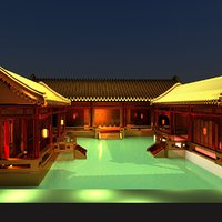 chinese courtyard 3D model