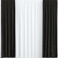 3D model curtains dark tulle