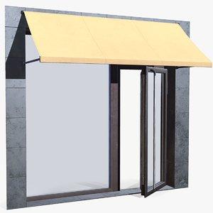 3D shop entrance marquis