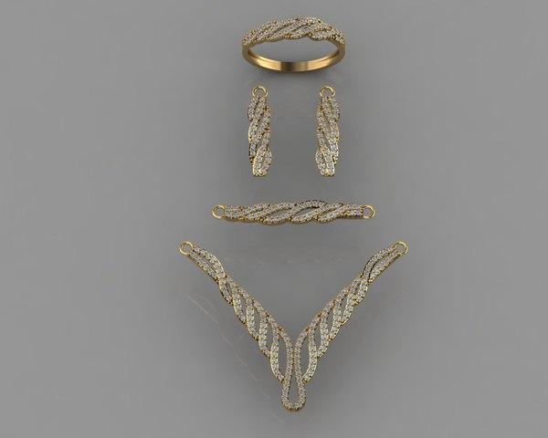 3D gold diamond model