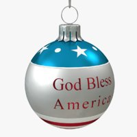 3D american christmas ball bless model