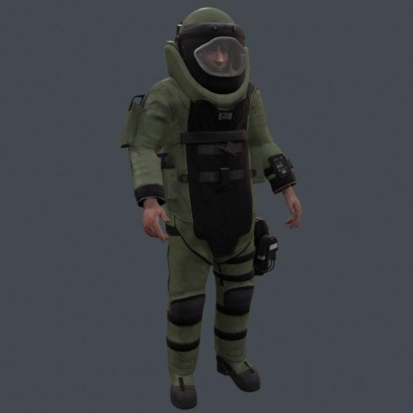 eod9 bomb disposal suit 3d obj