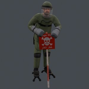 3d model of lightweight demining ensemble