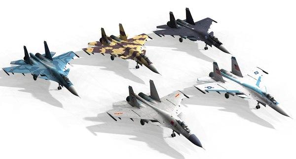 su35 su30 su-30 3D model