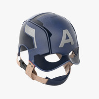 captain america cap 3D model