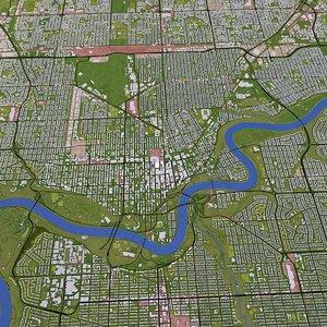 edmonton roads mapping 3D model