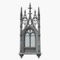 gothic window 03 3D model