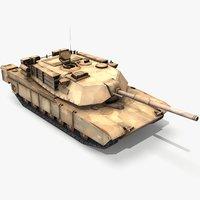 M1A1 Abrams Tank lowpoly