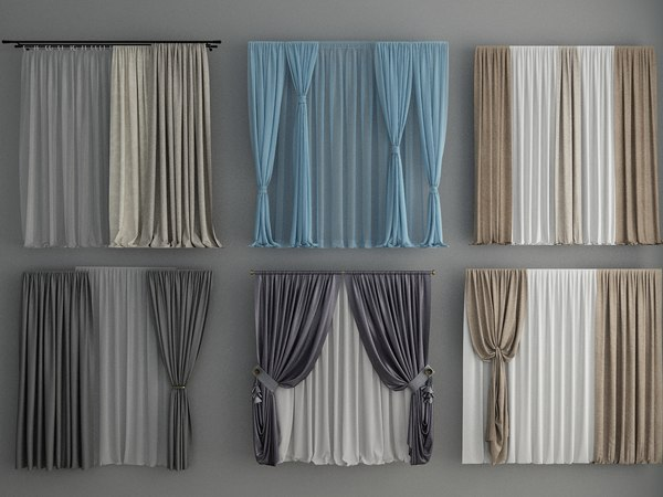curtains tulle 3D