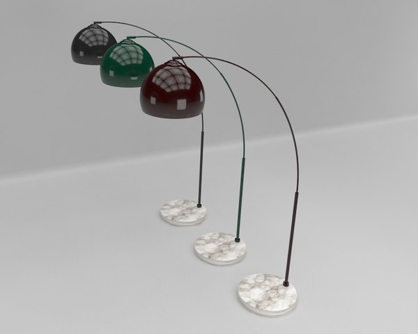 arched floor lamp 3D