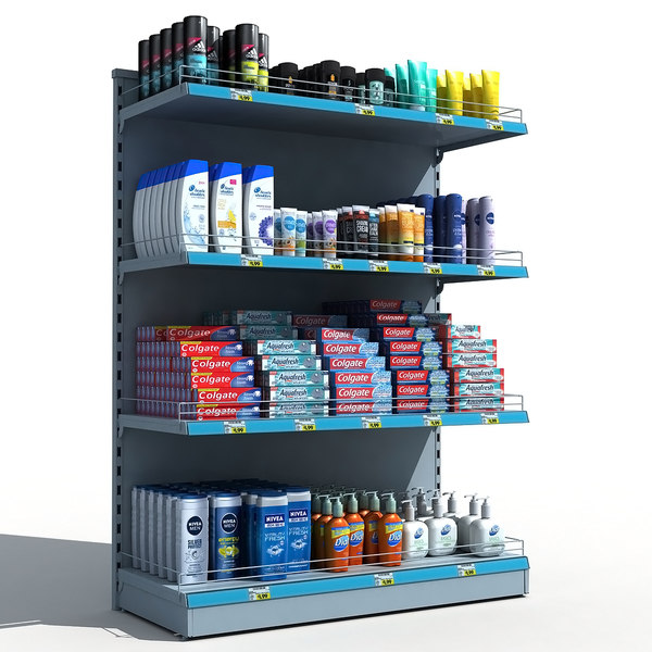supermarket personal hygiene 3D model